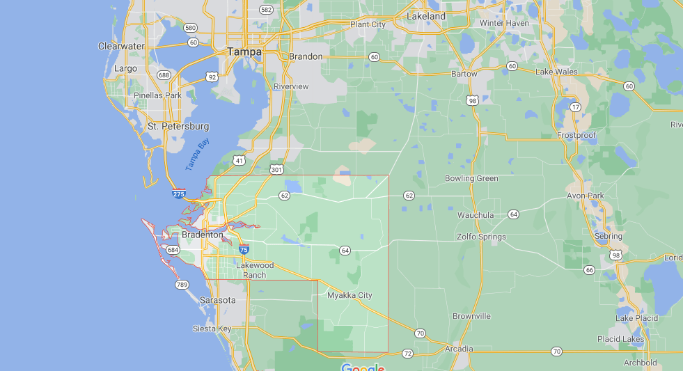 What cities are in Manatee County
