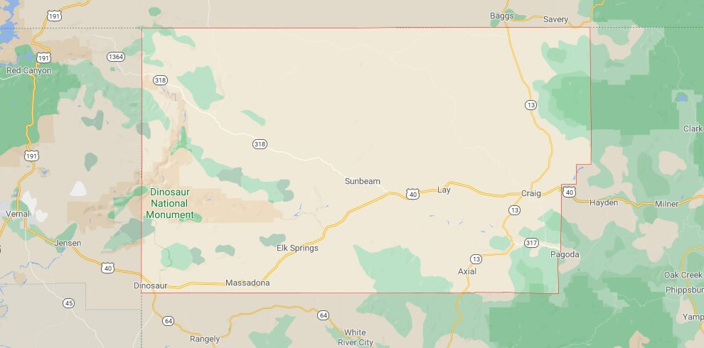 What cities are in Moffat County Colorado