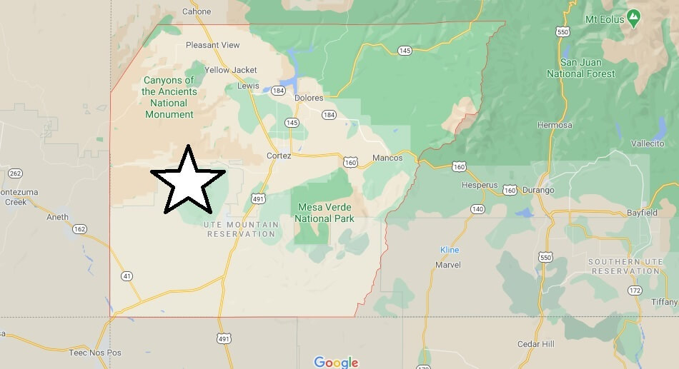 What cities are in Montezuma County Colorado