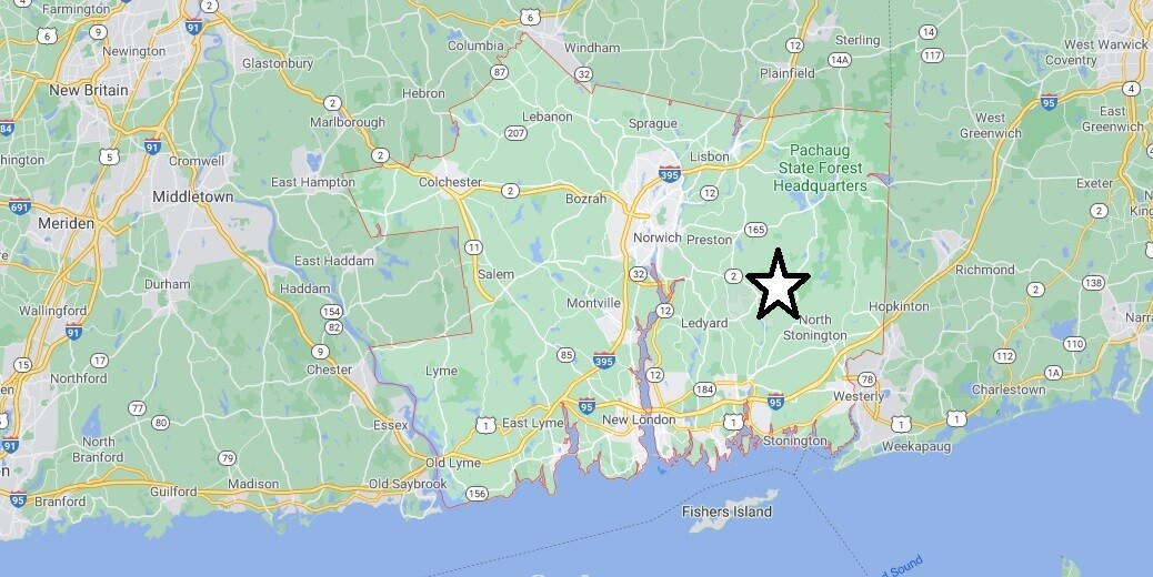 What cities are in New London County