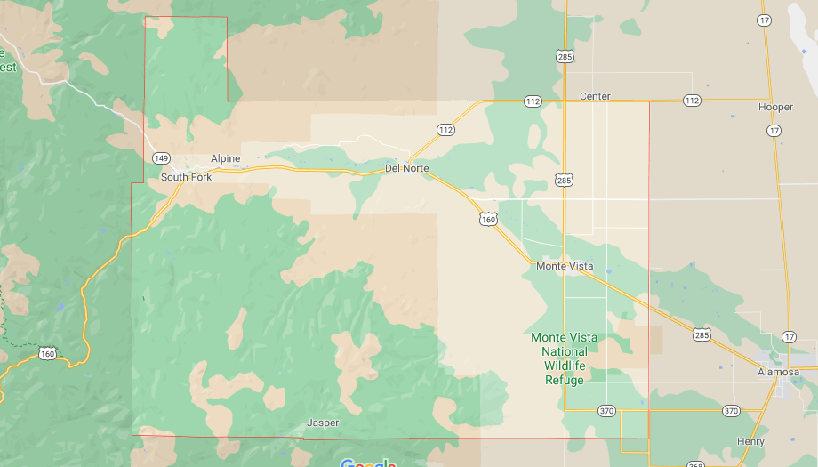 What cities are in Rio Grande County Colorado
