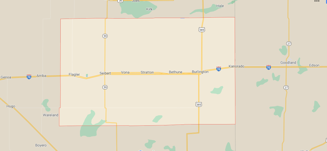 What towns are in Kit Carson County Colorado