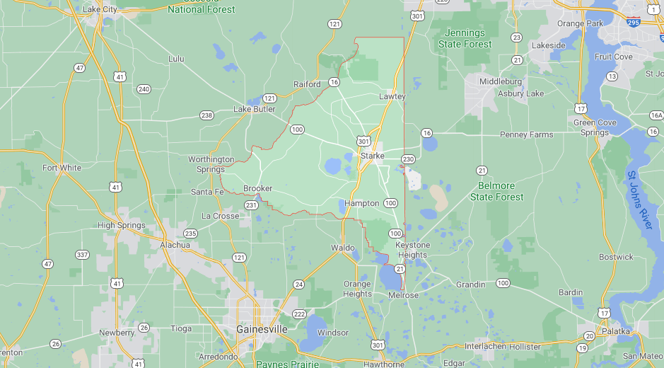Where in Florida is Bradford County