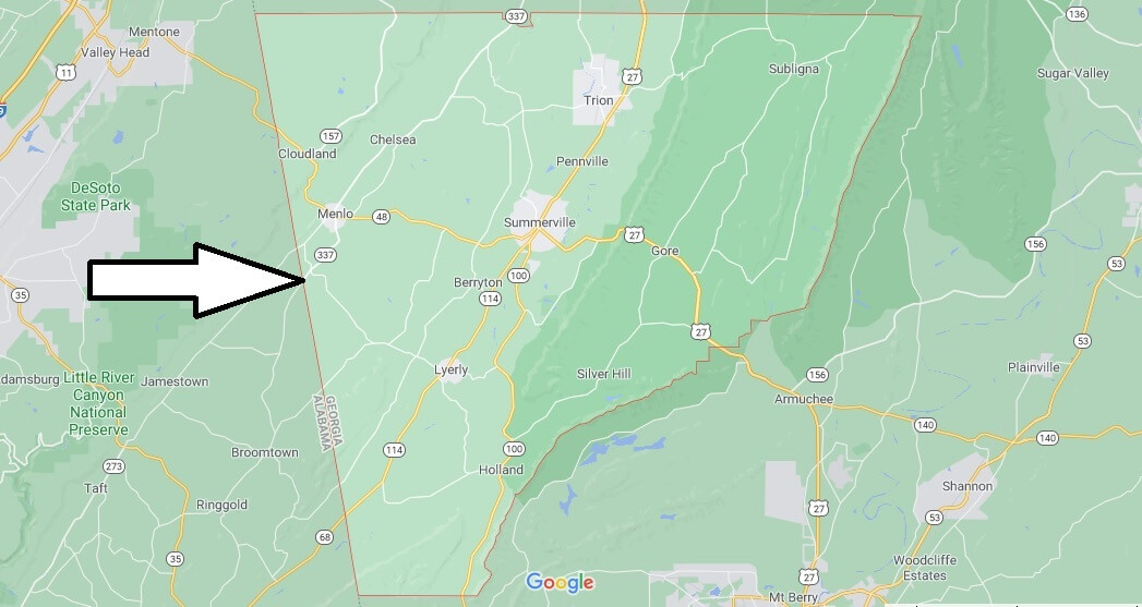What cities are in Chattooga County
