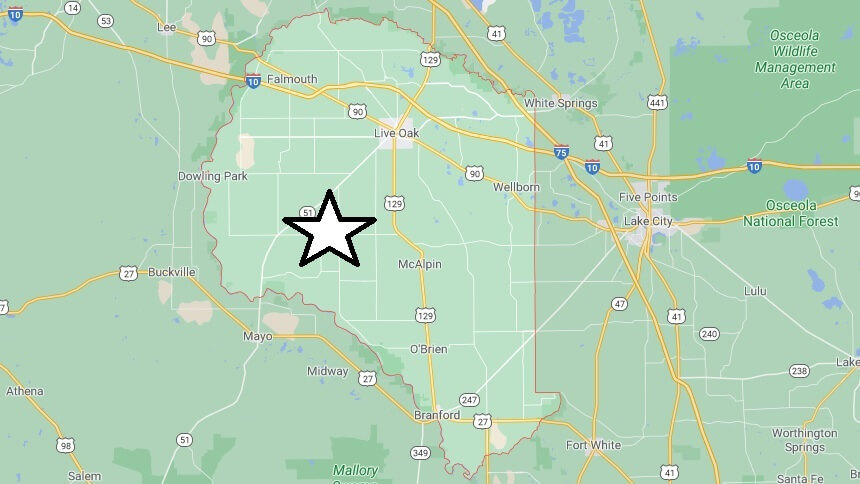 What cities are in Suwannee County