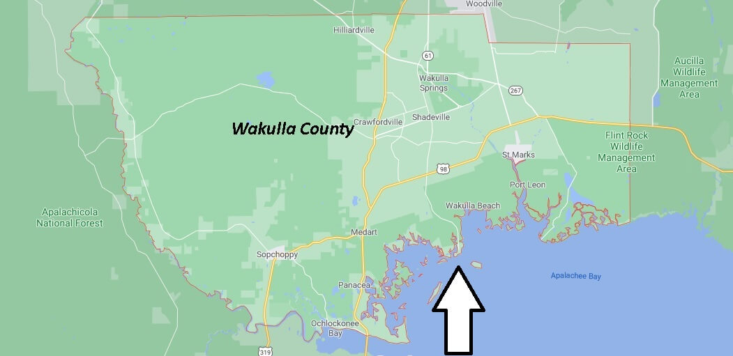 What cities are in Wakulla County