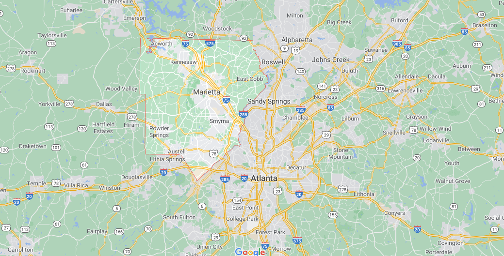 Where in Georgia is Cobb County