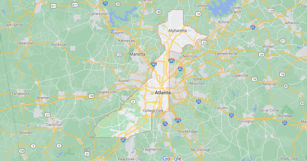 Where in Georgia is Fulton County