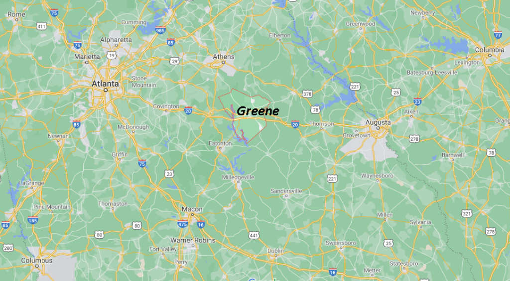 Where in Georgia is Greene County