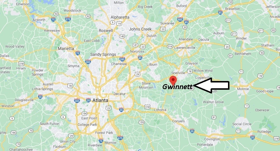 What cities are in Gwinnett County