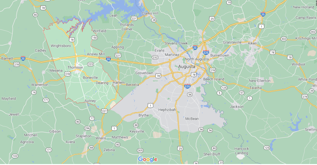 Where in Georgia is McDuffie County