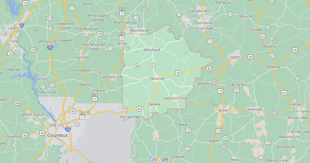 Where in Georgia is Talbot County