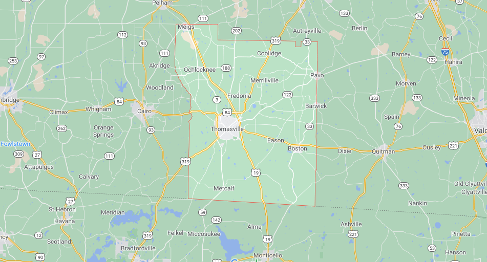 Where in Georgia is Thomas County