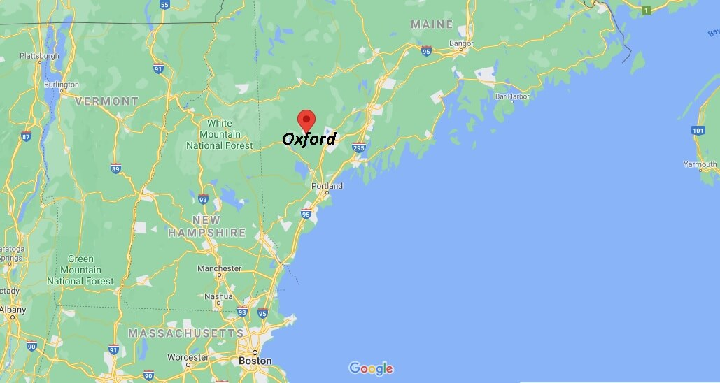 What cities are in Oxford County
