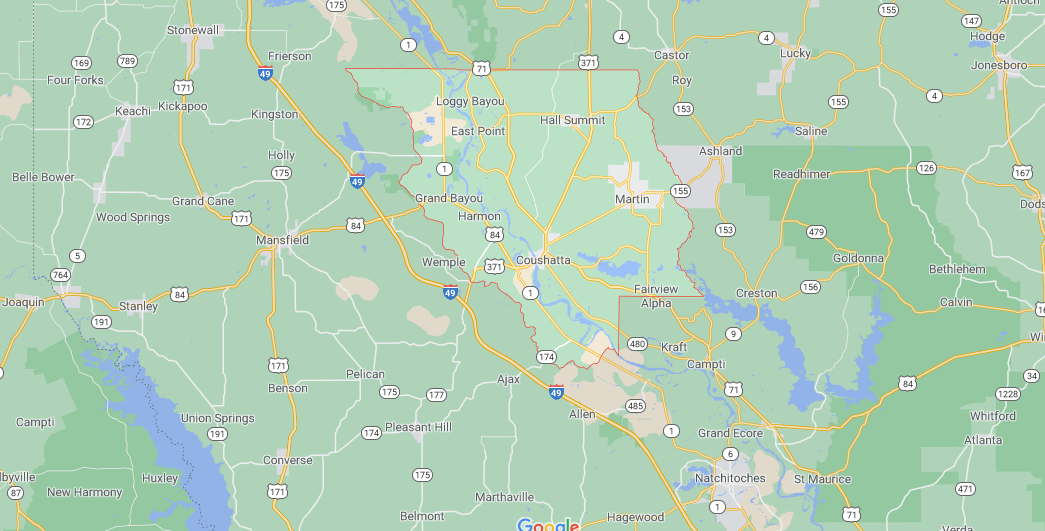 What region is Red River Parish in