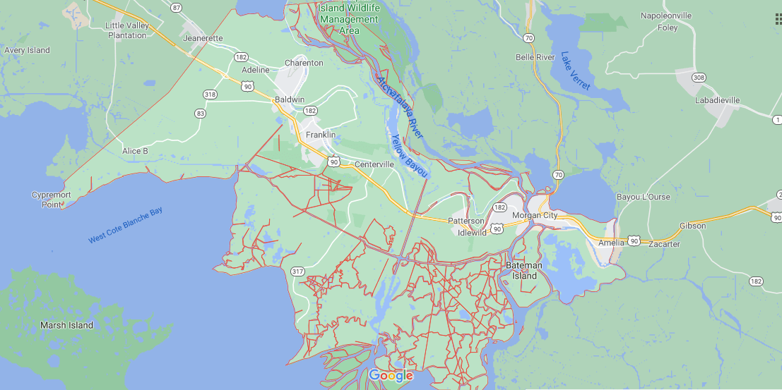What region is St. Mary Parish in