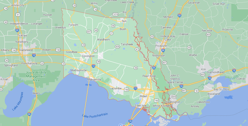 What region is St. Tammany Parish in