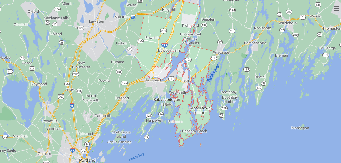 Where in Maine is Sagadahoc County
