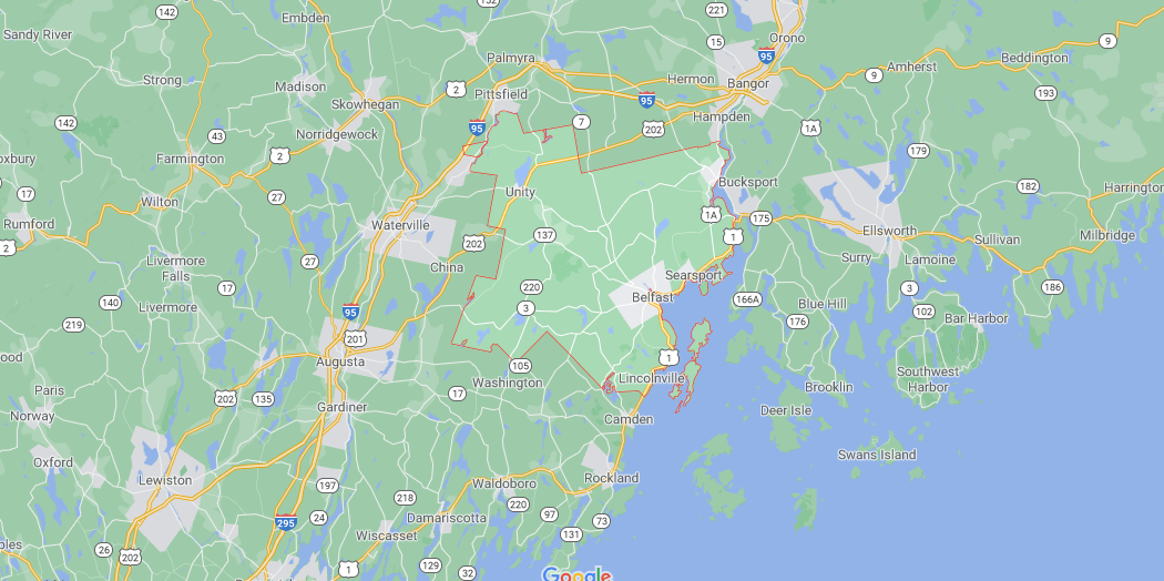 Where in Maine is Waldo County