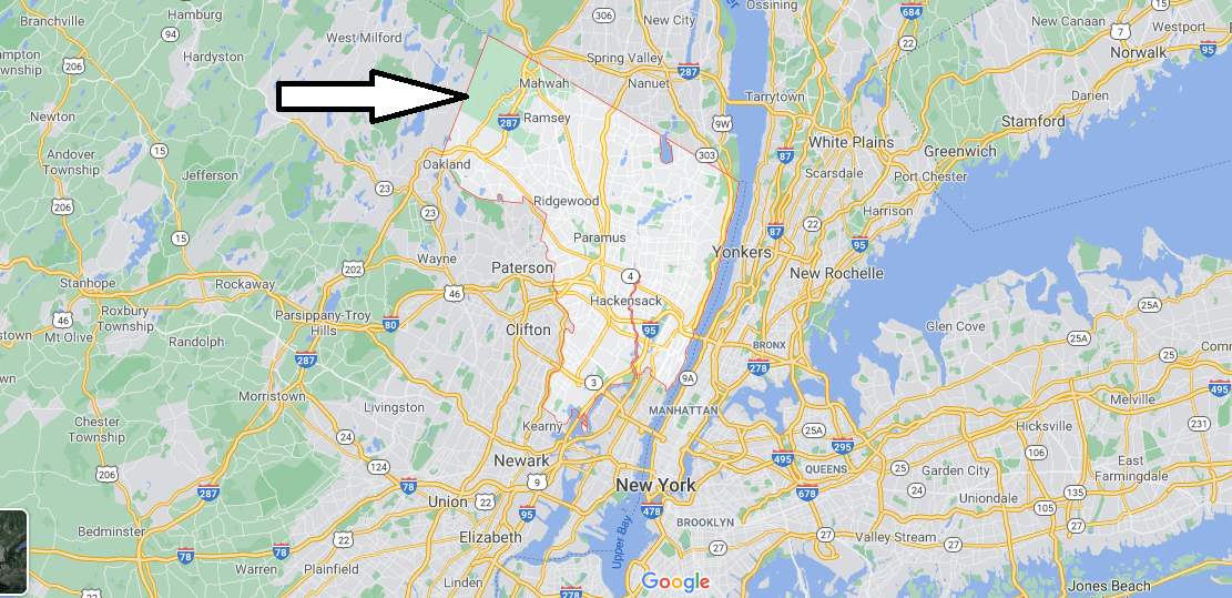 What cities are in Bergen County