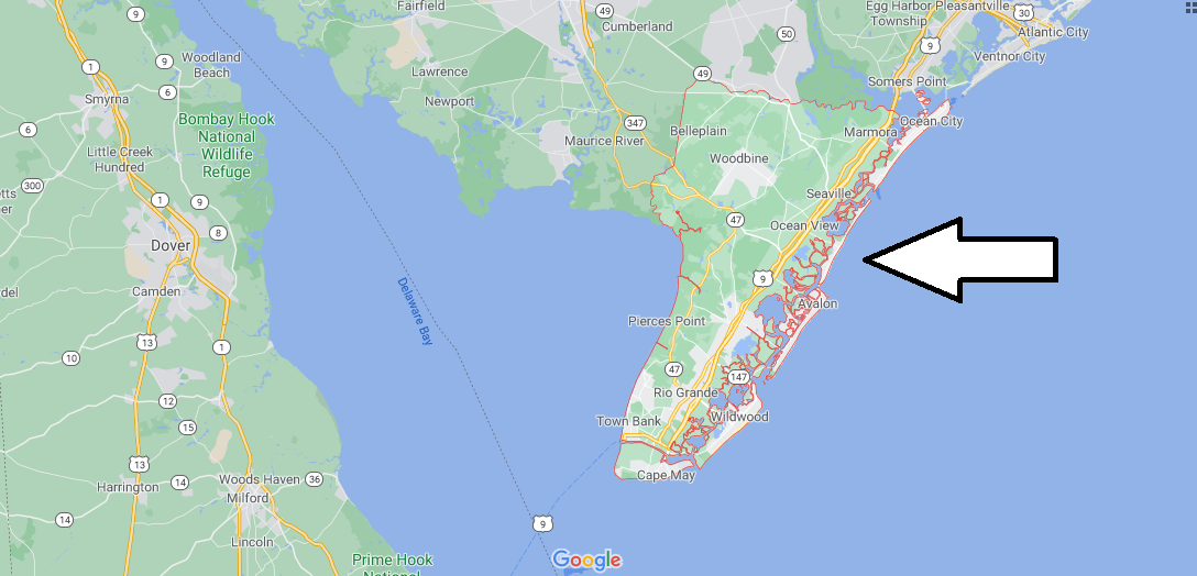 What cities are in Cape May County