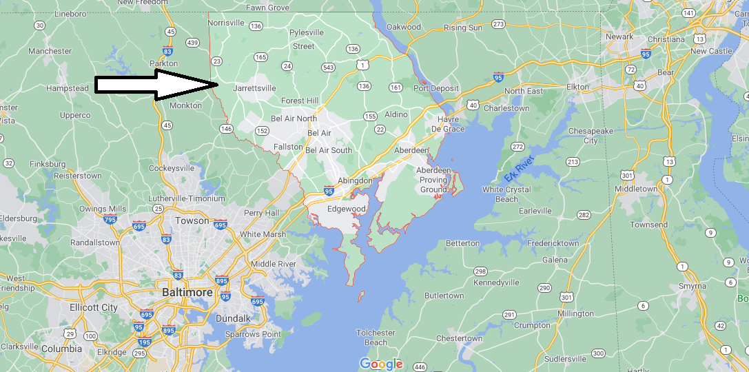 What cities are in Harford County