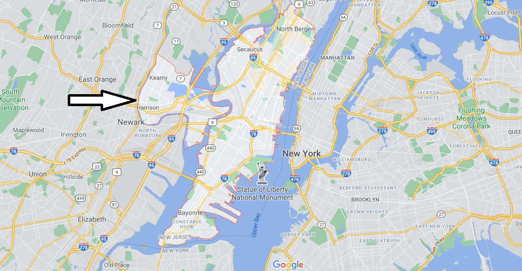 What cities are in Hudson County