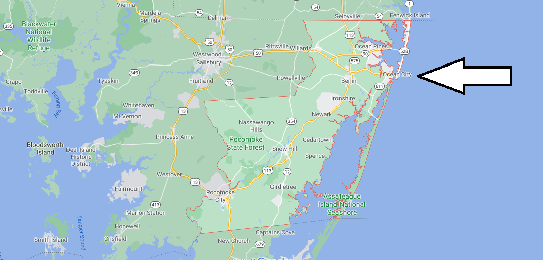 What cities are in Worcester County