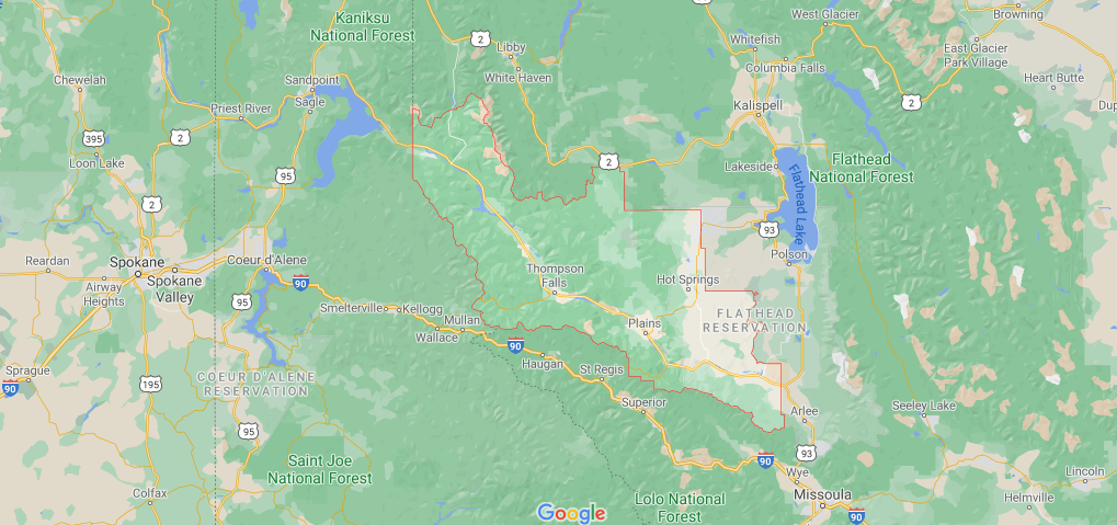 What towns are in Sanders County Montana