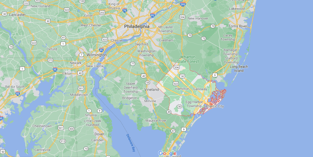 What towns make up Atlantic County NJ