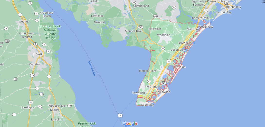 What towns make up Cape May County NJ