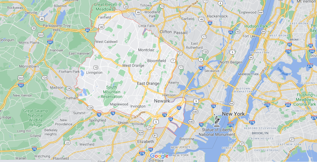 What towns make up Essex County NJ