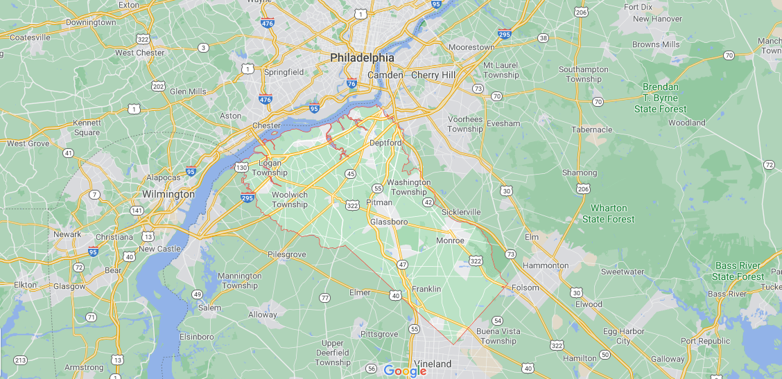 What towns make up Gloucester County NJ