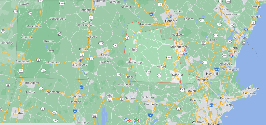 What towns make up Hillsborough County NH