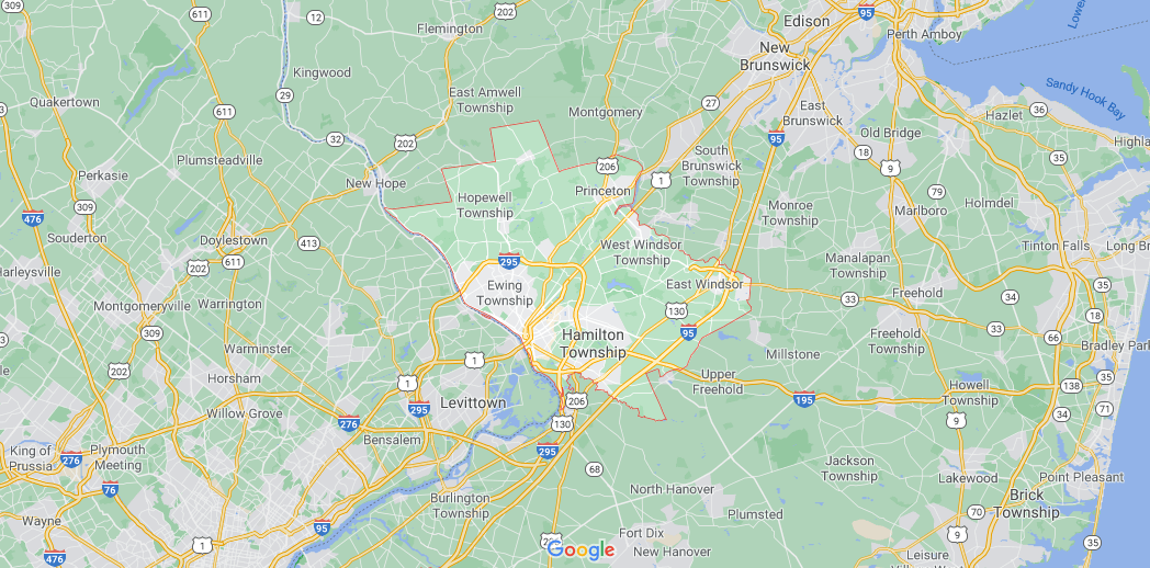 What towns make up Mercer County NJ