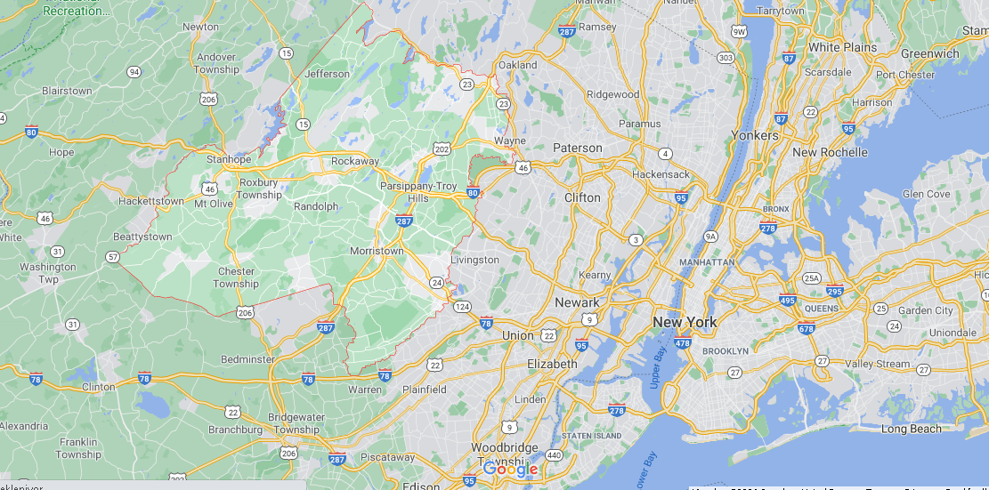 What towns make up Morris County NJ