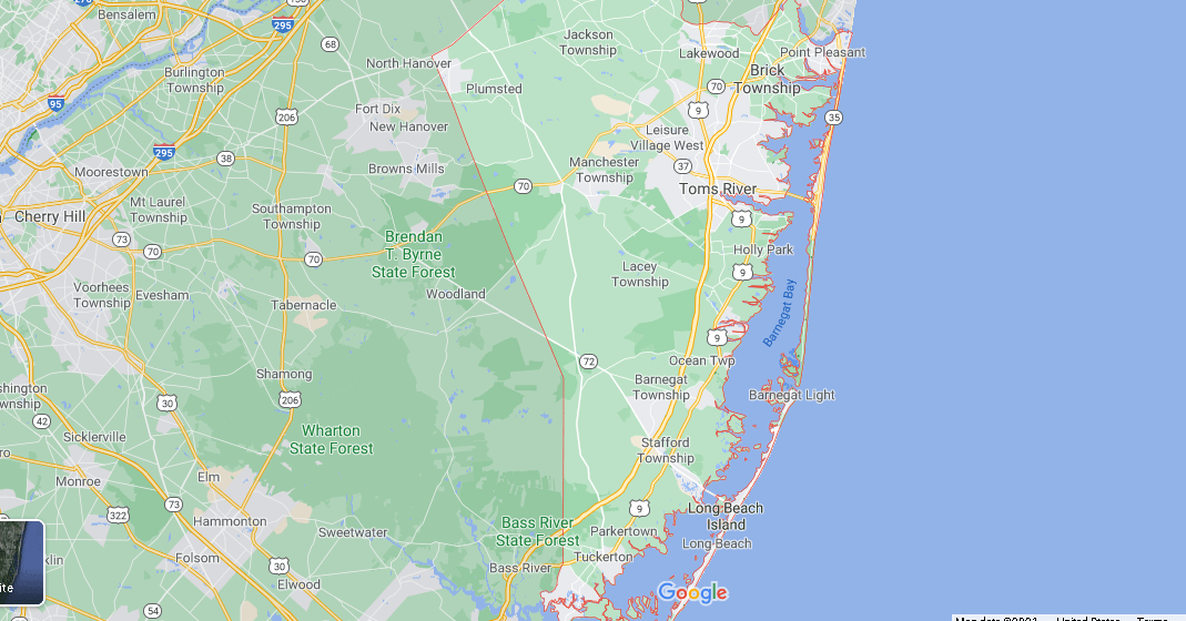What towns make up Ocean County NJ