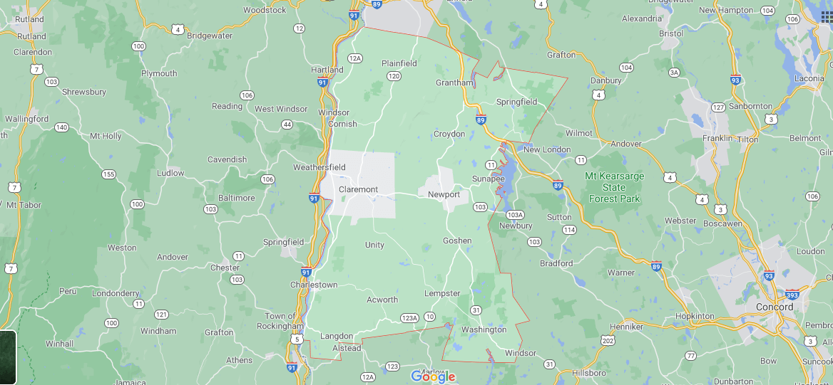 What towns make up Sullivan County NH