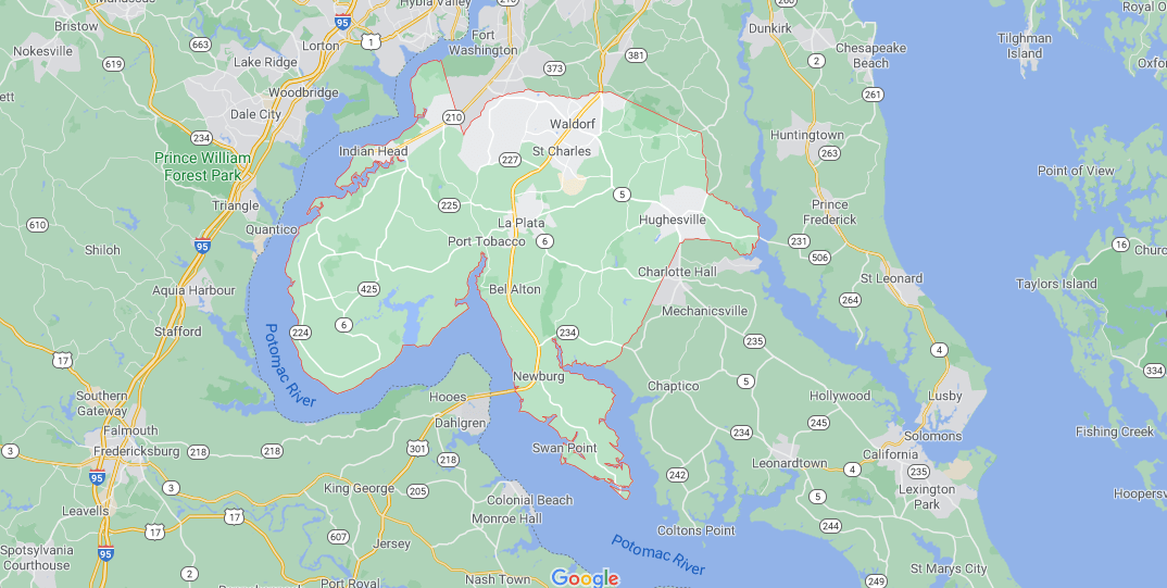 Where in Maryland is Charles County