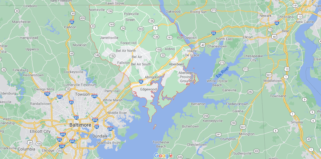 Where in Maryland is Harford County