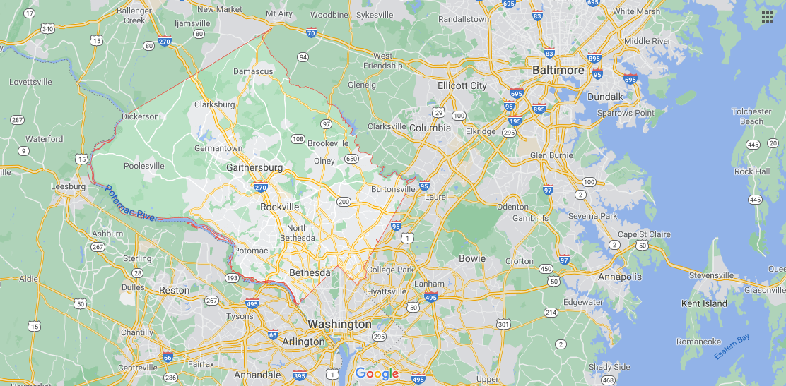 Where in Maryland is Montgomery County