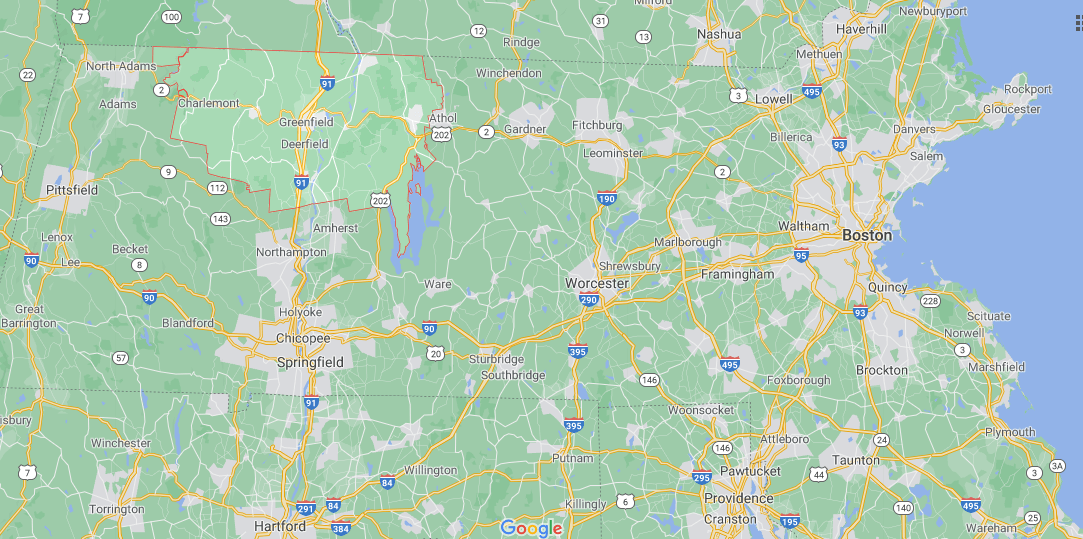 Where in Massachusetts is Franklin County