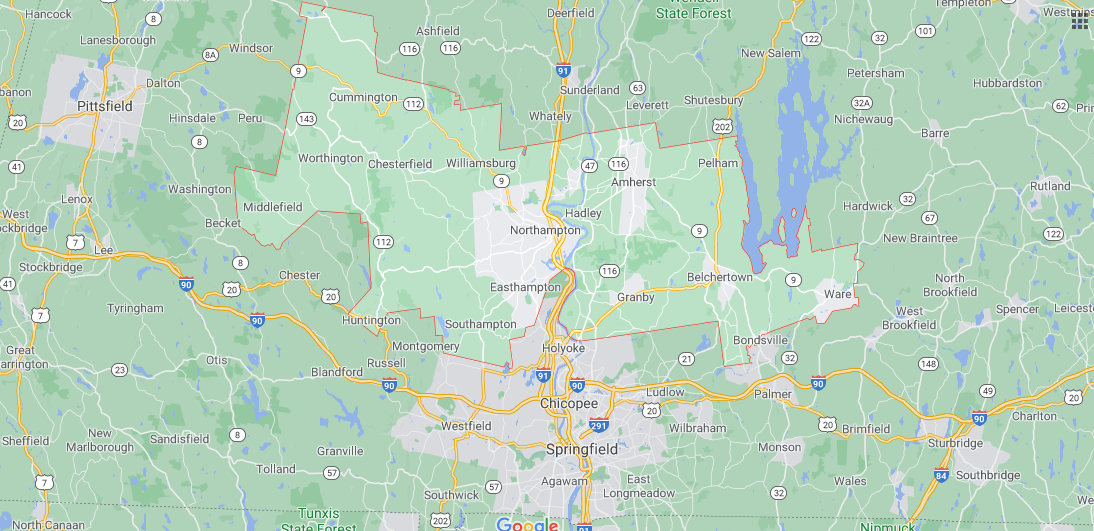 Where in Massachusetts is Hampshire County