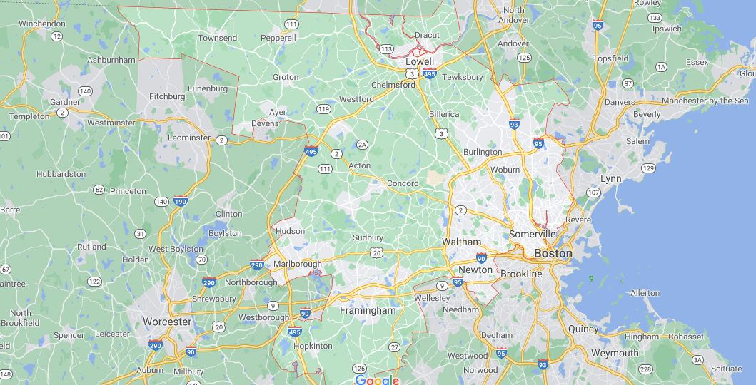 Where in Massachusetts is Middlesex County