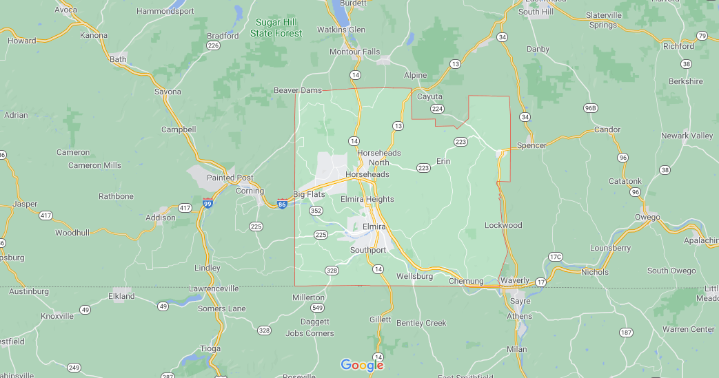 What region is Chemung County NY