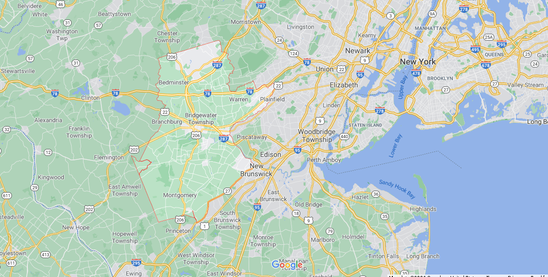 What towns make up Somerset County NJ
