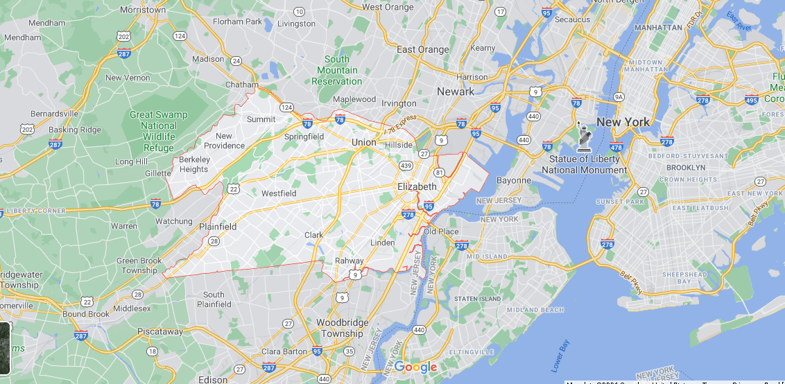 What towns make up Union County NJ