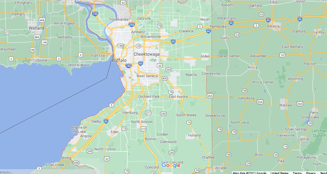 What cities are in Erie County