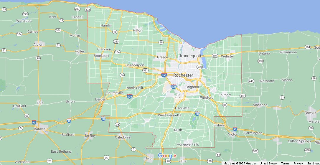 What cities are in Monroe County