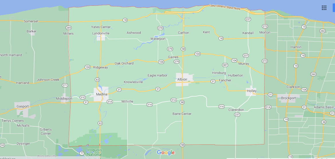 What cities are in Orleans County